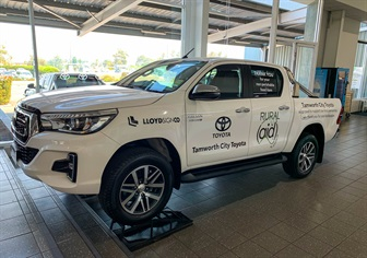 Tamworth City Toyota & Rural Aid Australia Working Together